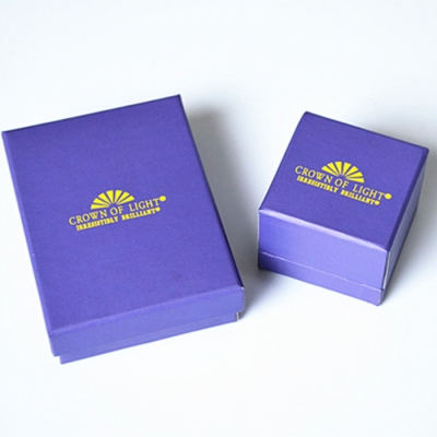 Attractive Bright Purple Various Sizes Gloosy Printed Paperboard Jewelry Gift Box