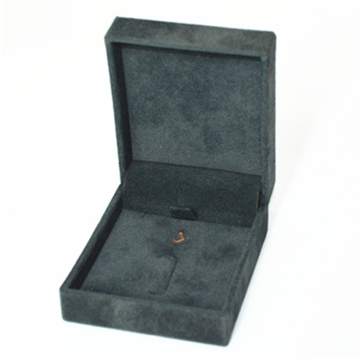 Handcraft Custom Dark Grey Velvet Jewelry Set Box