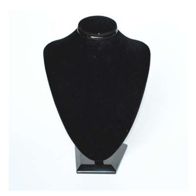 Hottest Attractive Black Acrylic Velvet Jewelry Diaplay For Necklace