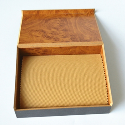 New Arrivral Good Quality Patterned Paper MDF Wood Packaging box for wallet
