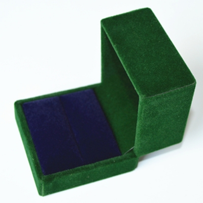 Handmade Small Dark Forest Green Latest Plush Velvet Ring box